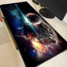 Moon Art Pattern Mouse Pad Game Waterproof Mat Non-slip Natural Rubber MousePad with Locking  keyboard pad