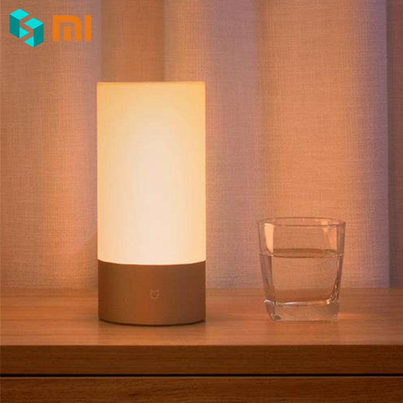 Xiaomi Mijia Bedside Lamp Bluetooth 4.2 BLE WiFi Connect Touch Control 300Lm 16 Million RGB Color 10W Multi Color Light 100-240V