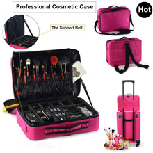 Makeup Bag Box Multilayer Cosmetic Waterproof Oxford Professional Case Organizer Travel Wash Bags