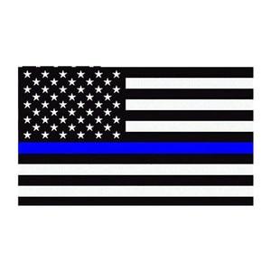 Image 2 - 11,4X6,35 cm Auto Styling Amerikanische Flagge Aufkleber Ehre Polizei Durchsetzung Fenster Auto Aufkleber (5 Pack)