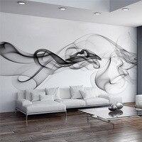 Custom Wall Mural Wallpaper Modern Smoke Clouds Abstract Art Large Wall Painting Bedroom Living Room Sofa