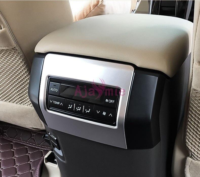 Rear Armrest Box Air Vent Outlet Cover Trim For Toyota Prado FJ150 2010-2018