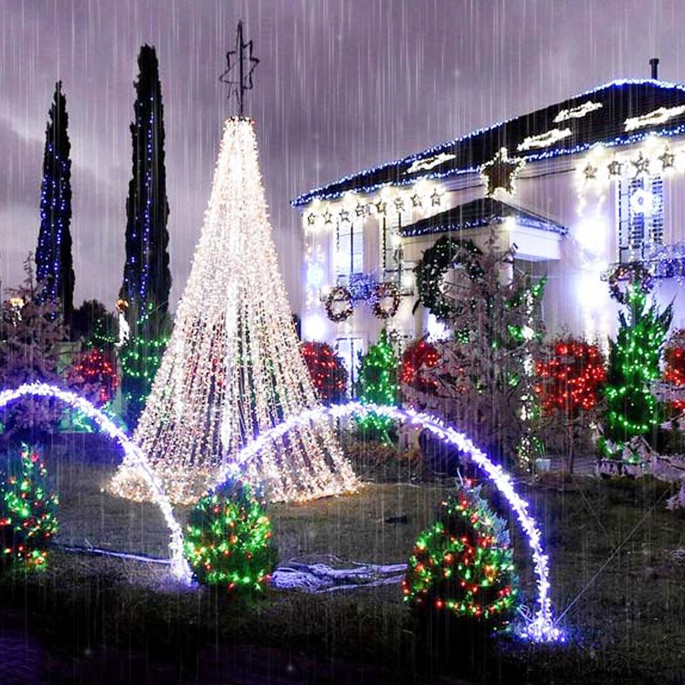 6M x 3M 600 LED-i kodu väljas puhkuse jõulud dekoratiivsed pulmad - Puhkusevalgustus - Foto 6
