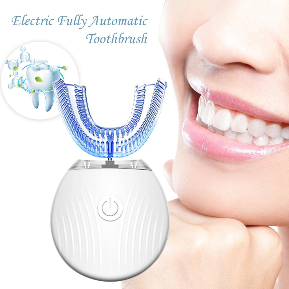 Electric Toothbrush 360 Degree Intelligent Automatic Blu-ray Teeth Whitening U Type Tooth Brush Waterproof Toothbrush USB ChargeElectric Toothbrush 360 Degree Intelligent Automatic Blu-ray Teeth Whitening U Type Tooth Brush Waterproof Toothbrush USB Charge