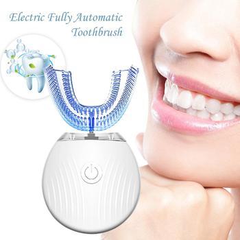 Smart Toothbrush 360 Degree Intelligent Automatic Blu-ray Teeth Whitening U Type Tooth Brush Waterproof Toothbrush USB Charge