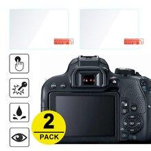 2x מזג זכוכית מסך מגן עבור Canon 6D 70D 77D 80D 90D 600D 650D 700D 750D 760D 800D 9000D 1200D 1300D 1500D 2000D 8000