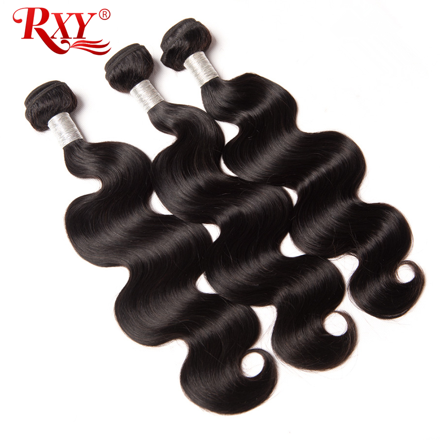 RXY Brazilian Body Wave Hair Extension 1PC 100% Human Hair Bundles Remy Hårväv Naturlig Färg 10-28 tum Tillgänglig