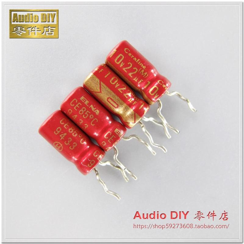2019 Hot Sale 10pcs/30pcs ELNA Red Robe Old Cerafine Series 22uF/10V Audio Electrolytic Capacitors Free Shipping