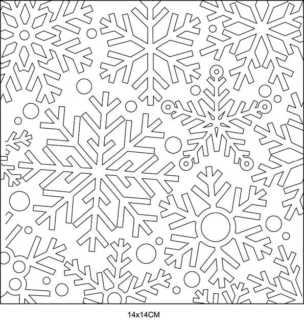 Sello claro FONDO DE copo de nieve DIY álbum de tarjetas de álbum de papel artesanal de silicona rodillo transparente sellos A602