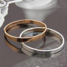 Модный женский браслет из полированной нержавеющей стали для