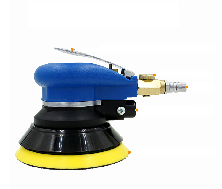 5 inch Air Sander Sin Self-vacuum Air Sander orbital sander Air orbital sander Burnish machine Pneumatic tools 4 inch disc type pneumatic polishing machine 100mm pneumatic sander sand machine bd 0145