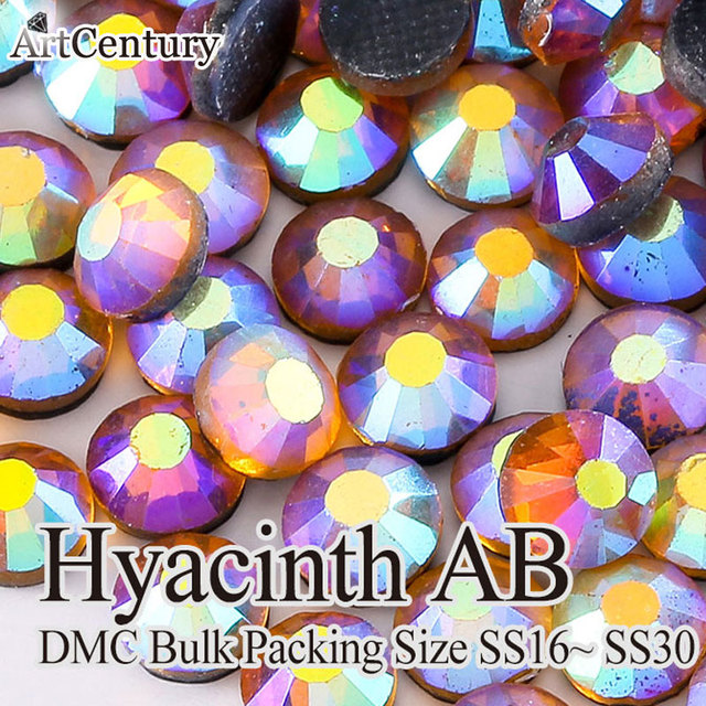Cheapest Price Bulk Packing 50 Gross SS30 Glass Material Hyacinth AB DMC  Hotfix Rhinestones 67ee779afb61