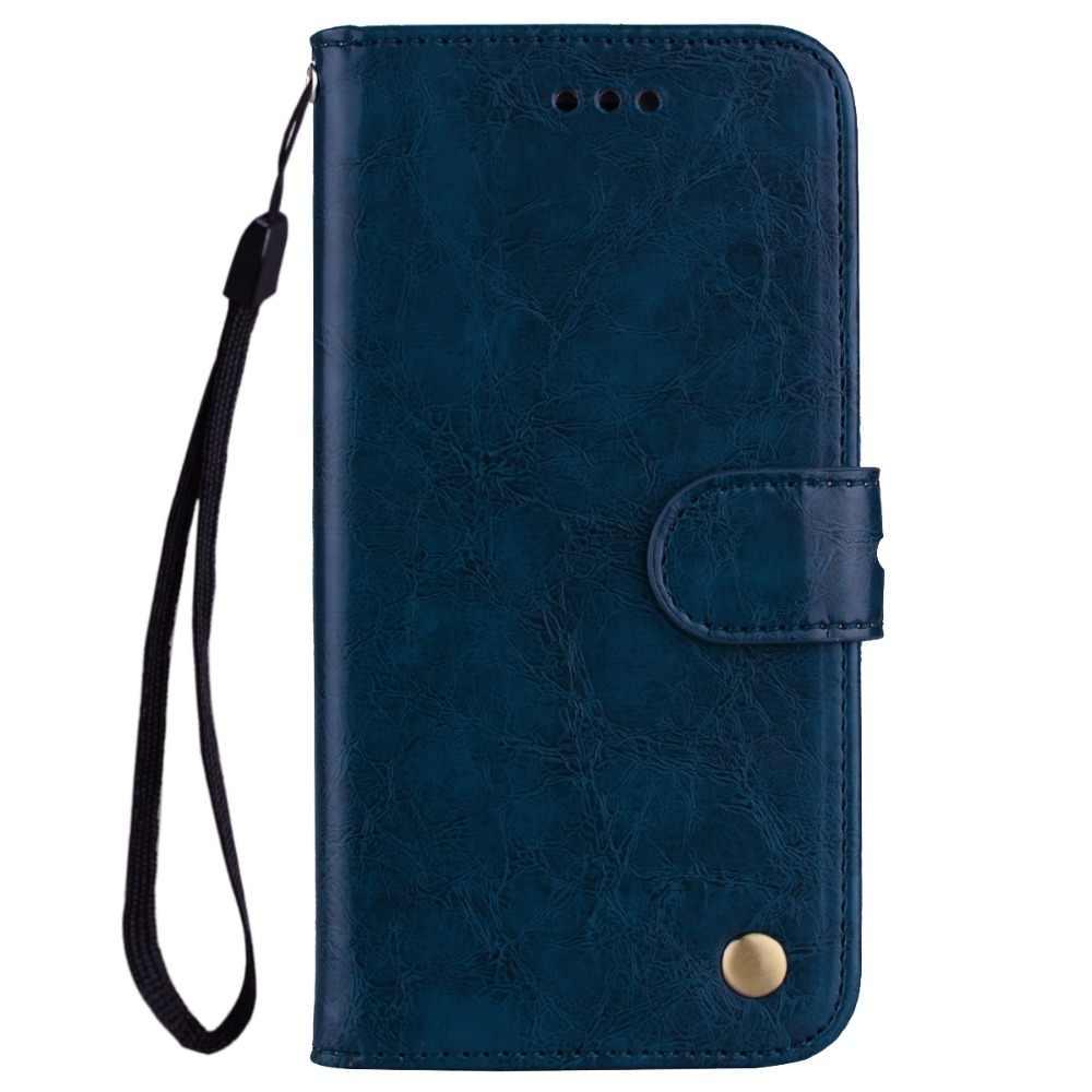 حافظة لهاتف آيفون XR لون عادي محفظة طي جلدية حقيبة لهاتف أي فون 5 5s SE 6 6S 7 8 Plus X XR XS Max Coque