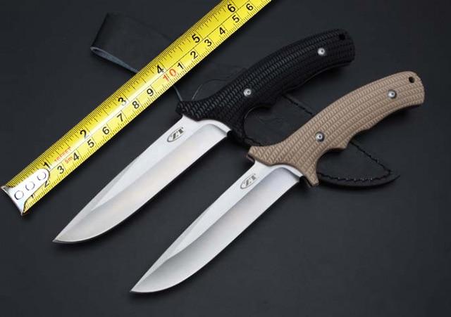 2 Options ZT 0170 font b Hunting b font Fixed font b Knife b font 9Cr18Mov