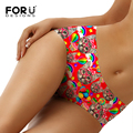 FORUDESIGNS 3D Sexy Cat Printing Seamless Panties Women Underwear Female Seamless Calcinha Bragas Briefs Ladies Breathable Panty