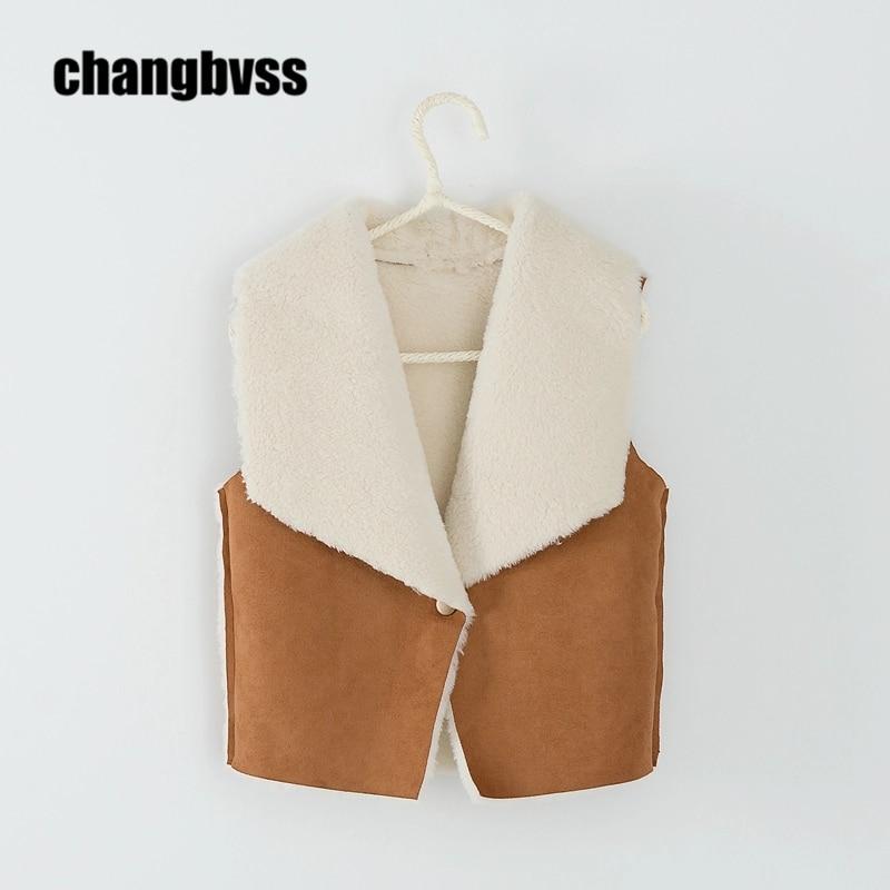 Fashion Girls Fur Vest Girls Baby Coat Children's Vest,Warm Comfortable Kids Vest For Autumn Winter,gilet sans manche enfant цена 2017
