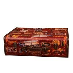 Europejska Retro walizka ręcznie drewniane pudełko do przechowywania pudełko Vintage Box dekoracji wnętrz strzelanie schowek rekwizyty rekwizyty fotograficzne