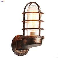 IWHD Rustieke Glas Vintage Wandlamp Edison Slaapkamer Badkamer Trap Loft Stijl Industriële Muur Verlichtingsarmaturen Applique Murale LED LED Indoor Wandlampen    -