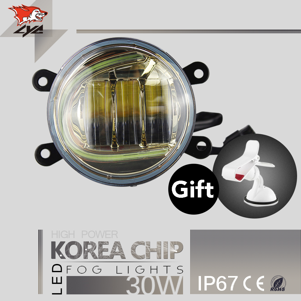LYC 3.5  Round Fog Lamp Yellow For Toyota Fortuner Accessories Lights for Jeep Korea Chip Led Fog Lamp White Amber Green Blue high quality lyc for jeep wrangler yj fog lights daylight running overhead fog lights for toyota nissan lights 30w 3000k 6000k