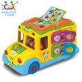 Elétrica Ônibus Escolar, crianças de Música Carro Incluindo 8 Jogos, carro Chifre Chamadas Canções de Animais, cedo educacional toys para presente das crianças
