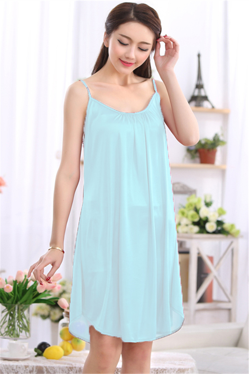 1c09fcd4e452 XXL XXXL Plus Size Sexy Sleeping Dress Women Sleeping Dress Nightdress For  Women Satin Nightdress Ladies Sleepwear White Black -in Nightgowns    Sleepshirts ...