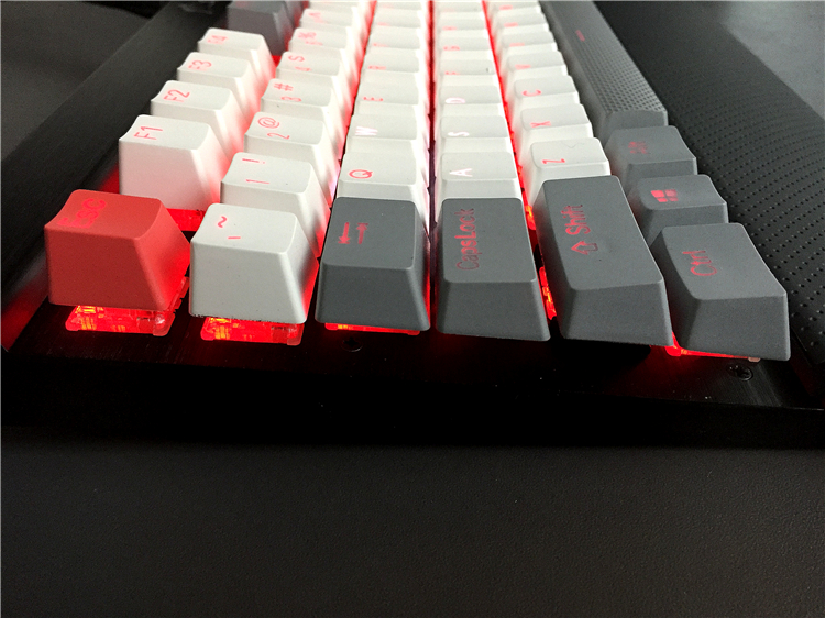 MP PBT Translucidus Backlit Double shot Wit en grijs Retro Keycap - Computerrandapparatuur - Foto 4