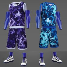 172a01b53d1 New camouflage men throwback basketball training jersey set blank college  tracksuits breathable sport basketball uniforms custom