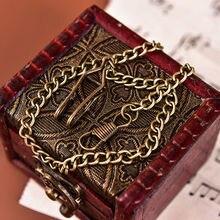 Бронзовые сплава цепочки для карманных часов цепь для антикварных кварца старинные карманные часы