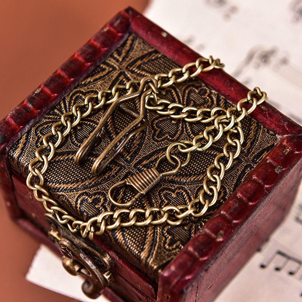 Bronze Alloy Pocket Watch Chains Chain For Antique Quartz  Vintage Pocket Watch