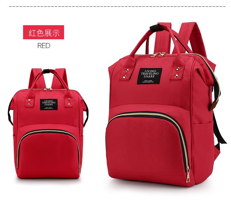 HTB1riQ9cvWG3KVjSZFgq6zTspXau Large Capacity Mummy Bag Maternity Nappy Bag Travel Backpack Nursing Bag for Baby Care Women's Fashion Bag