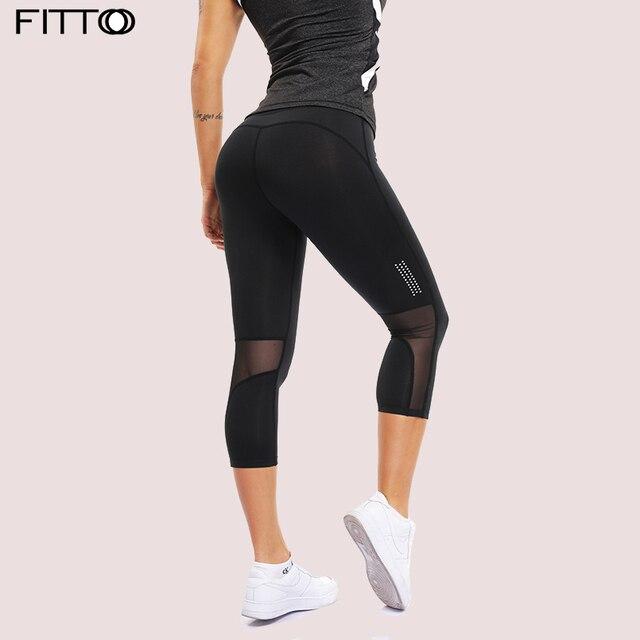 302b8d21f859a Women Mesh Calf-Length Sport Fitness Yoga Leggings Sexy Patchwork Workout  Leggins for Girls Leggins Female 3/4 Pants High waist