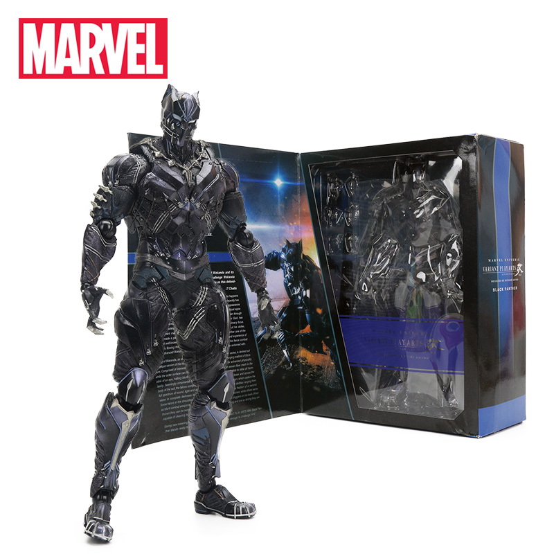 27cm Black Panther Figure Marvel Universe Variant Playarts PVC Action Figures Collectible Model Toy Marvel Toys the Avengers marvel s the avengers encyclopediа