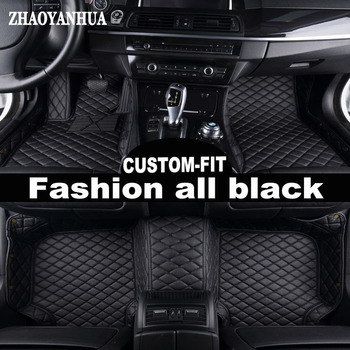 ZHAOYANHUA Custom fit car floor mats for Toyota Land Cruiser Prado 150 120 Corolla Camry RAV4 Camry carpet floor liners image