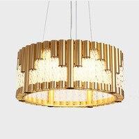 Modern Creative Concise Art Style Livingroom Pendant Light Bedroom Restaurant C Golden Decoration Lamp Free Shipping