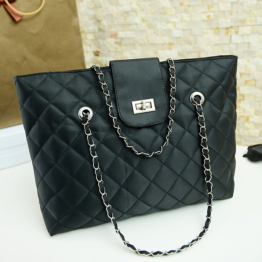 Mojoyce New Design Fashion Quilted Chain Women Bag Leather Handbags Lattice Shoulder Bags Casual Tote Free Shipping