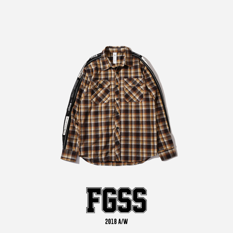 9b5e557a 2018AW Xieruis Autumn Flannel Women Men Plaid Shirts Hiphop Justin Bieber  Streetwear Men Cotton Long Sleeve