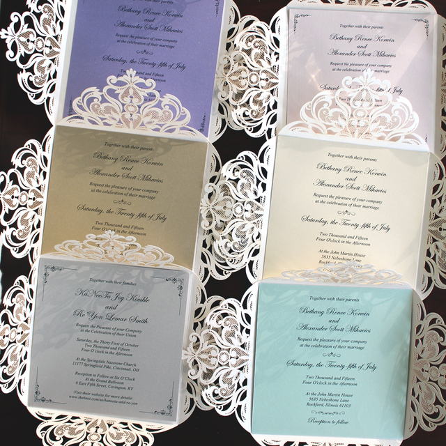 Picky Bride Laser Cut Wedding Invitations Elegant Customized