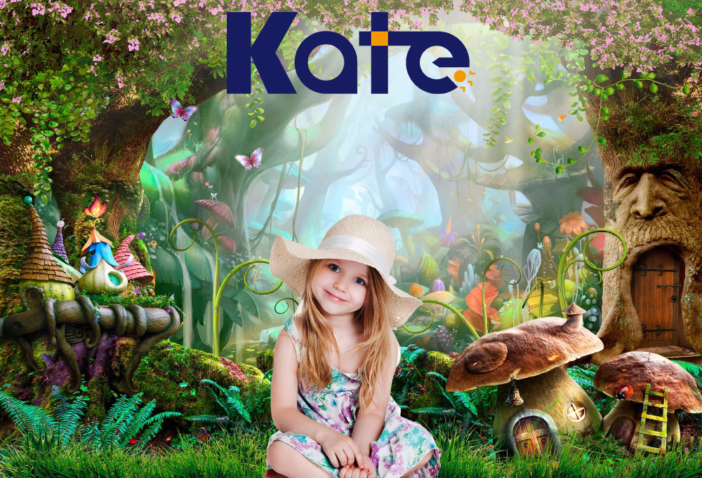 5X7FT Kate Fairy Tale Children Photo Background Photography Backdrop Dream Magic Forest Backgrounds for Studio Castle