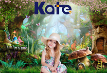 5X7FT Kate Fairy Tale Children Photo Background Photography Backdrop Dream  Magic Forest  Backgrounds for Photo Studio Castle kate retro blue wall photo background photography backdrop children washable backgrounds for photo studio