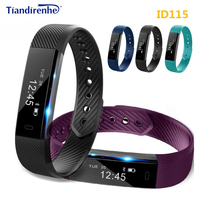 Fitness Tracker ID115 Smart Bracelet Pk Xiaomi Mi Band 2 Id07 Step Counter Activity Monitor Band