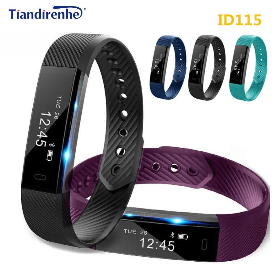 ID115 Smart Armband Fitness Tracker Schritt Zähler Aktivität Monitor Alarm Uhr Armband Smartband PK xiaomi mi band 2 mi band