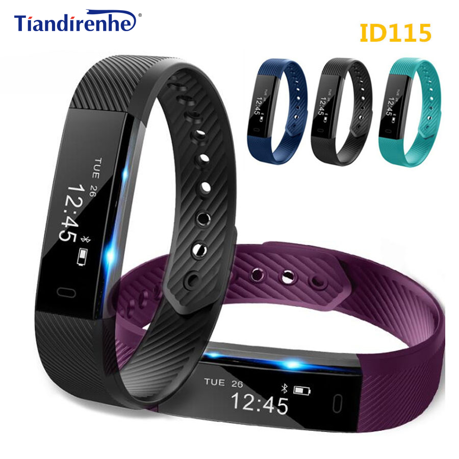 Fitness Tracker ID115 Smart Bracelet Step Counter Activity Monitor Alarm Clock Wristband Smartband PK xiaomi miband 2 mi band