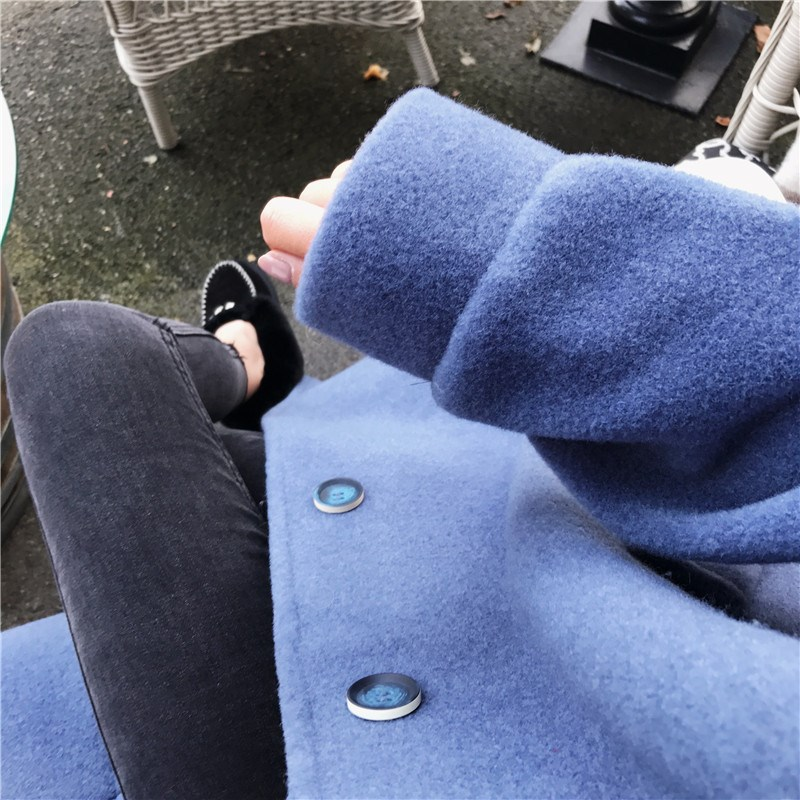 Coréenne Laine Taille Pardessus Grande Hiver Lâche Mode Mince Édition Long 2018 Et Femmes Nouvelle Automne Survêtement De La gn1x8T4qW