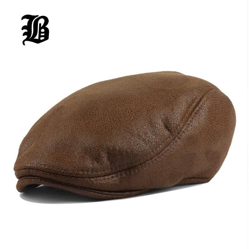 a2c43b38ad0a5  FLB  PU viseras gorra de boina de algodón sombreros para hombres y mujeres  de conducción vendedor de periódicos sombrero Planas gorras Planas ajustable  ...