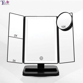 Miroir Led écran tactile grossissant et pliable