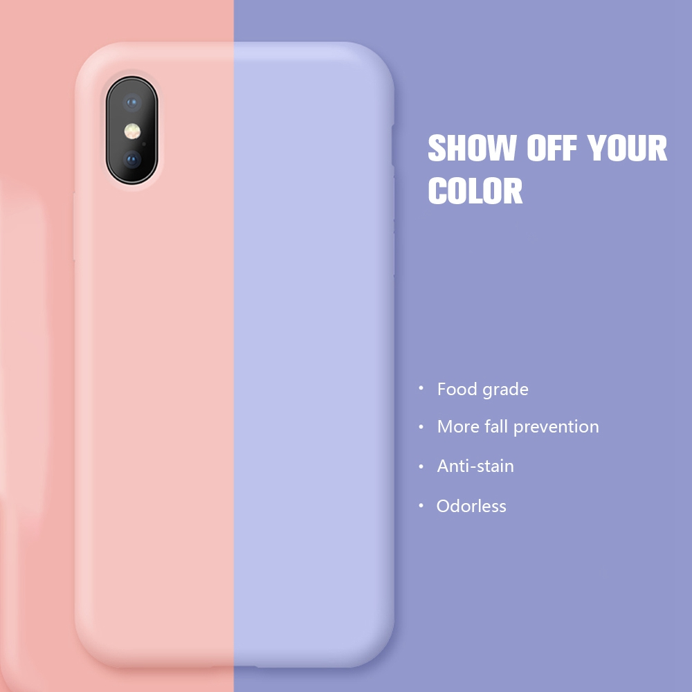 Phone <font><b>Case</b></font> For <font><b>iPhone</b></font> 7 <font><b>Case</b></font> <font><b>Original</b></font> Soft <font><b>Silicon</b></font> Cover For <font><b>iPhone</b></font> XS Max <font><b>Case</b></font> For <font><b>iPhone</b></font> 7 8 6 6S Plus <font><b>X</b></font> XR 8plus Funda Coque image