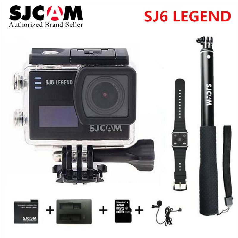 SJCAM Notavek 96660 SJ6 LEGEND wifi 4K 24fps Ultra HD Waterproof Action Camera 2.0 Touch Screen Remote Sports DV VS go pro cam in stock sjcam legend sj6 wifi notavek 96660 4k 24fps ultra hd waterproof camera action cam 2 0 touch screen remote sport dv