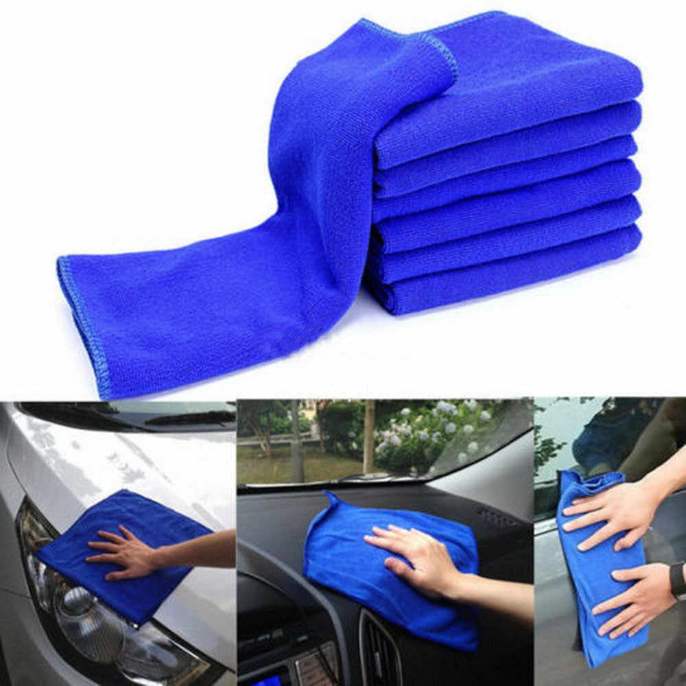 Gorąca ręczniki z mikrofibry 30cm * 30cm 6 sztuk niebieski wchłaniająca tkanina do prania samochód środek do pielęgnacji karoserii z mikrofibry ręczniki do czyszczenia Drop Ship 18 Octo 5