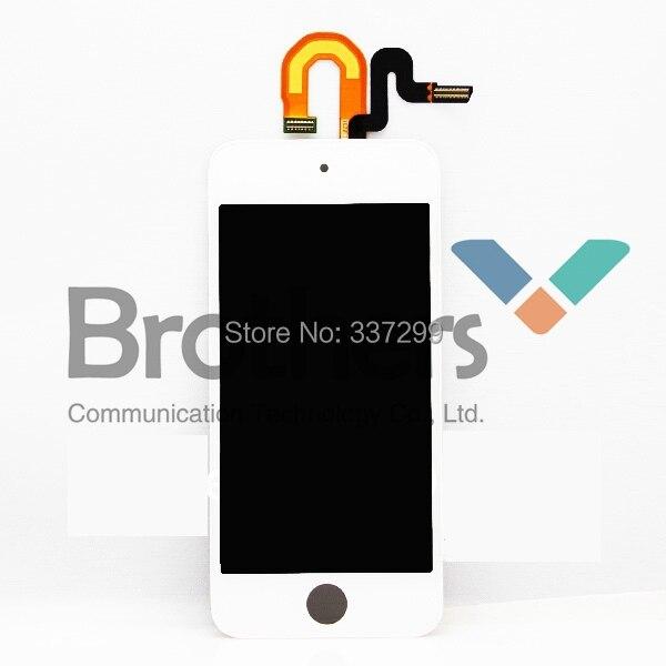 Haute qualité OEM garanti LCD écran tactile numériseur assemblée complète pour ipod touch5 blanc noir livraison gratuite