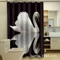 Green Tropical Plants Shower Curtains for Bathroom Polyester Seaworld Shower Curtain Printing Curtain Beach Shower 3DBH04